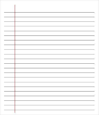 College Ruled Paper Template - 11+ Free PDF Documents Download  Intended For Notebook Paper Template For Word 2010 With Regard To Notebook Paper Template For Word 2010