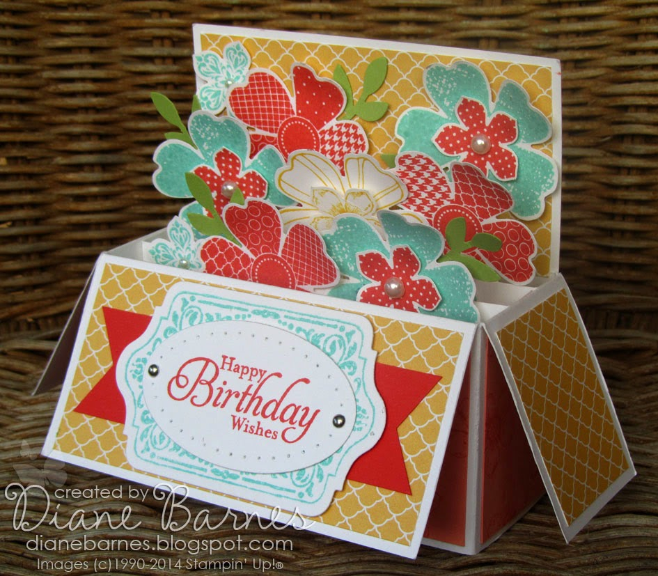 colour me happy: Flower Shop Long Card in a Box (with template) Within Pop Up Box Card Template In Pop Up Box Card Template
