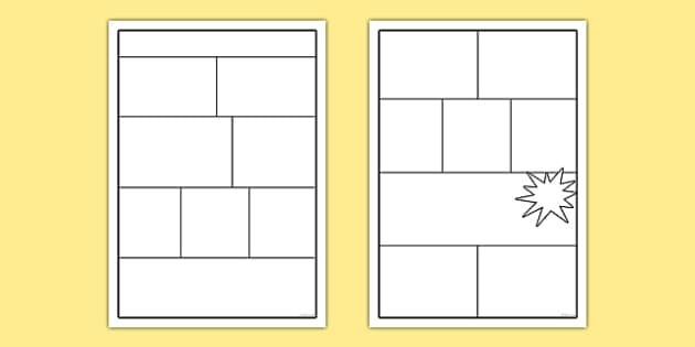 Comic Templates (teacher made) Regarding Printable Blank Comic Strip Template For Kids Inside Printable Blank Comic Strip Template For Kids