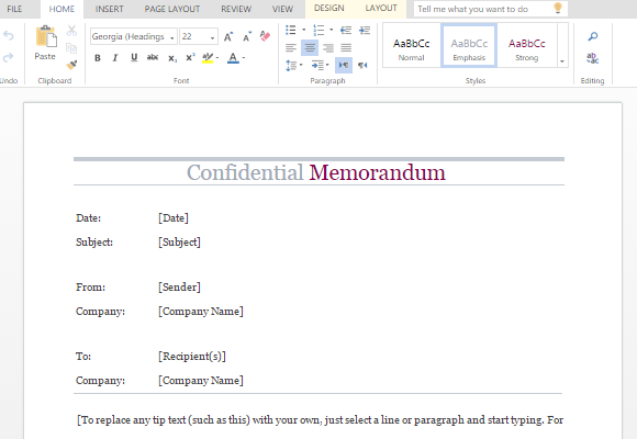 Confidential Memo Word Template Pertaining To Memo Template Word 2013 Inside Memo Template Word 2013