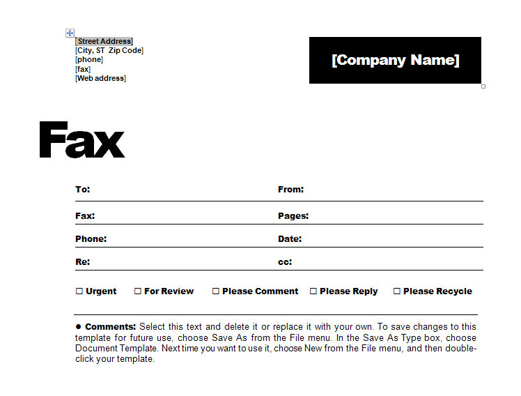 Contemporary Fax Coversheet  Fax Coversheet Template For Fax Template Word 2010 For Fax Template Word 2010