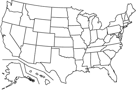 ConversationPrints Blank United States MAP Glossy Poster Picture Photo  America USA Cool In Blank Template Of The United States Pertaining To Blank Template Of The United States