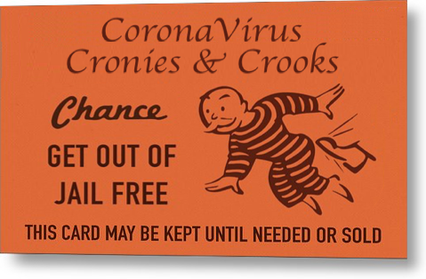 coronavirus cronies and crooks get out of jail free card Blank  Inside Get Out Of Jail Free Card Template Within Get Out Of Jail Free Card Template
