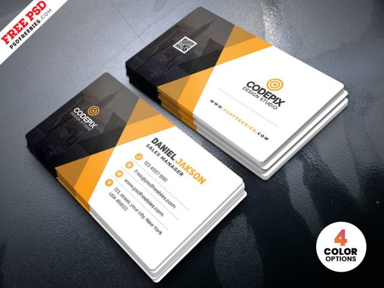 Corporate Business Card Template PSD - Free Download  ArenaReviews With Regard To Visiting Card Templates Psd Free Download In Visiting Card Templates Psd Free Download