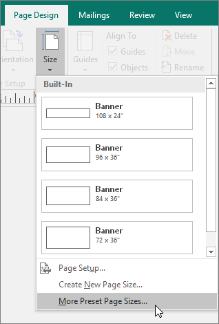 Create and print a banner, poster, or other large publication in  With Regard To Banner Template Word 2010 Within Banner Template Word 2010