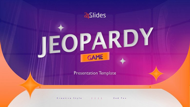 Creative Game Show Template  Free PowerPoint Template With Quiz Show Template Powerpoint Throughout Quiz Show Template Powerpoint
