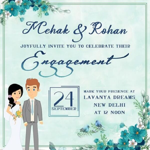 Creative Invitation Card Designs for Your Engagement: Jazz up and  Pertaining To Engagement Invitation Card Template Pertaining To Engagement Invitation Card Template