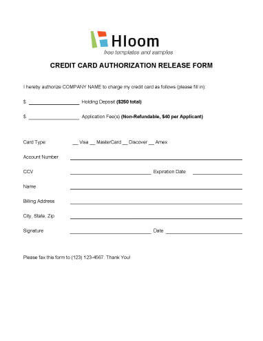 Credit Card Authorization Forms  Hloom Throughout Authorization To Charge Credit Card Template Inside Authorization To Charge Credit Card Template