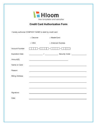 Credit Card Authorization Forms  Hloom Within Authorization To Charge Credit Card Template With Authorization To Charge Credit Card Template