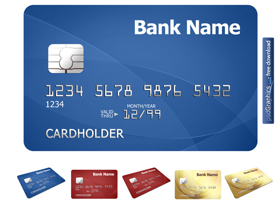 Credit card template  PSDGraphics With Regard To Credit Card Size Template For Word