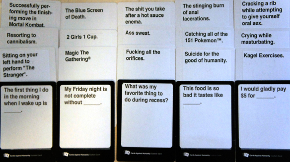 Custom Cards Against Humanity Cards  Mitchell Johnston Designs Within Cards Against Humanity Template Throughout Cards Against Humanity Template
