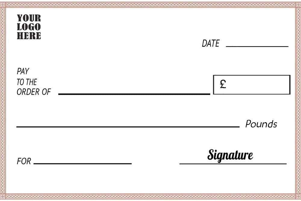 Custom Giant Fake Check, Made of 11mm PVC Foam Board, Big Oversized  Inside Large Blank Cheque Template Regarding Large Blank Cheque Template