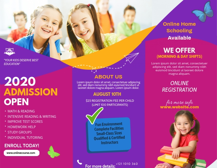 Custom School Admission Brochure Design Template  PosterMyWall Intended For School Brochure Design Templates Regarding School Brochure Design Templates