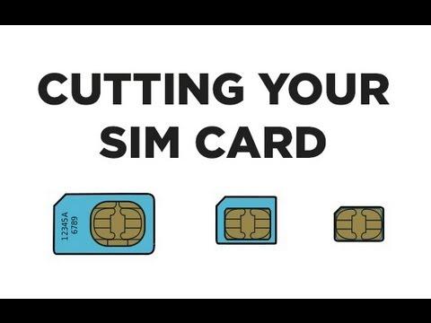 Cut your SIM Card into a NanoSIM Card WITH Printable Template - iPhone 11 For Sim Card Cutter Template For Sim Card Cutter Template