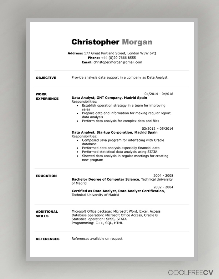 CV Resume Templates Examples Doc Word download Pertaining To How To Get A Resume Template On Word For How To Get A Resume Template On Word
