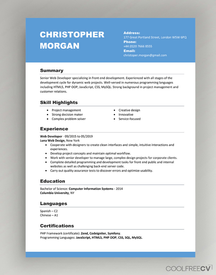 CV Resume Templates Examples Doc Word download Pertaining To How To Get A Resume Template On Word With How To Get A Resume Template On Word