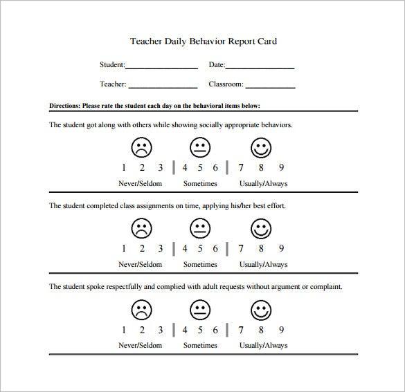 daily behavior chart template - Objektiv Inside Daily Behavior Report Template