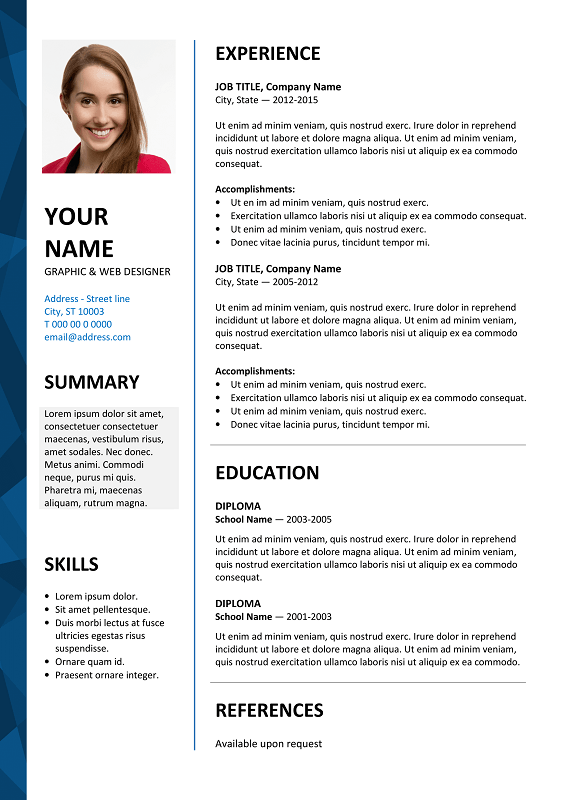 Dalston - Newsletter Resume Template With Resume Templates Word 2007 Inside Resume Templates Word 2007