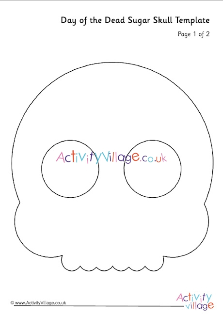 Day of the Dead Sugar Skull Template Pertaining To Blank Sugar Skull Template Intended For Blank Sugar Skull Template