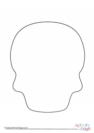 Day of the Dead Sugar Skull Template With Regard To Blank Sugar Skull Template In Blank Sugar Skull Template