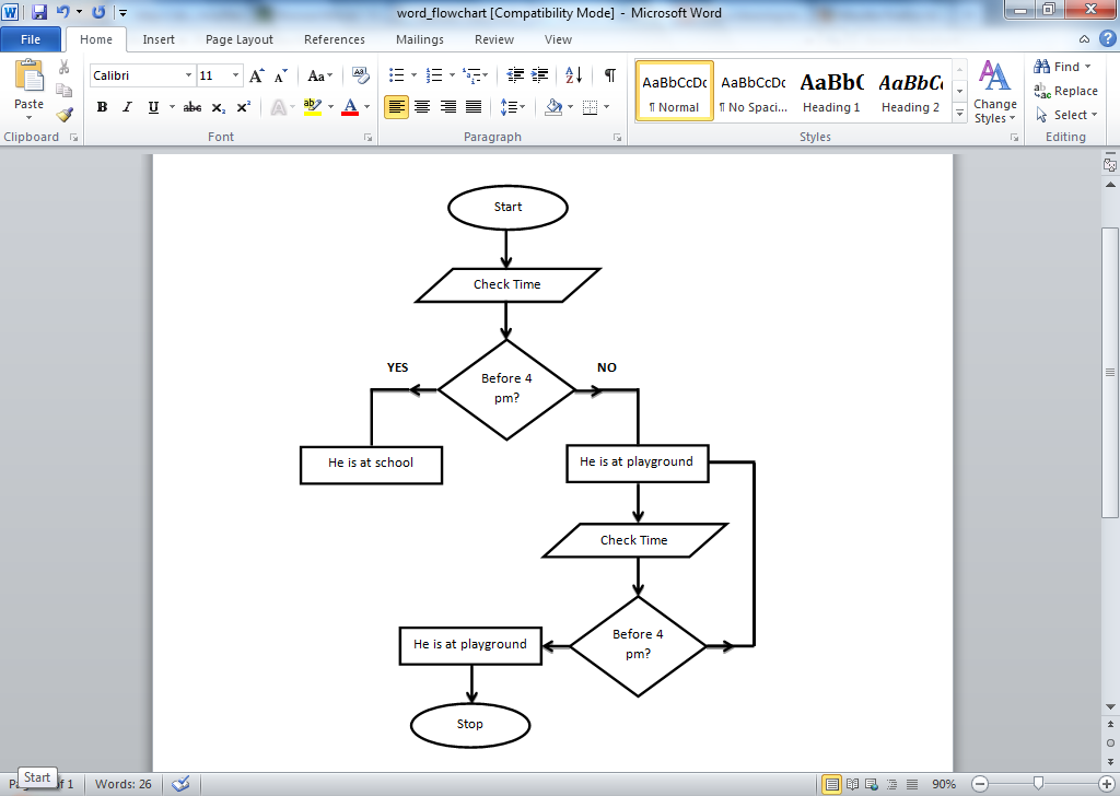 DIAGRAM] Process Flow Diagram Word 11 FULL Version HD Quality  Regarding Microsoft Word Flowchart Template