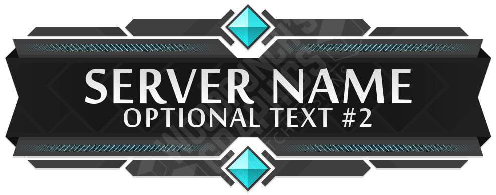 Diamonds In Minecraft Server Banner Template Intended For Minecraft Server Banner Template