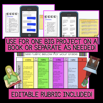 DIGITAL Book Report/Assessment: iPhone Inspired Template(s) With Mobile Book Report Template With Regard To Mobile Book Report Template