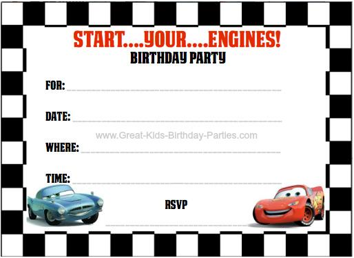 Disney Cars Birthday Party In Cars Birthday Banner Template Within Cars Birthday Banner Template