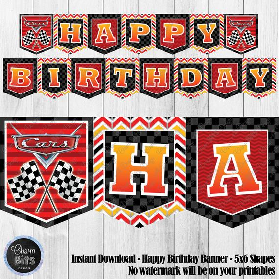 disney cars printable for 11, [Printable and Downloadable] - Lomen In Cars Birthday Banner Template With Cars Birthday Banner Template
