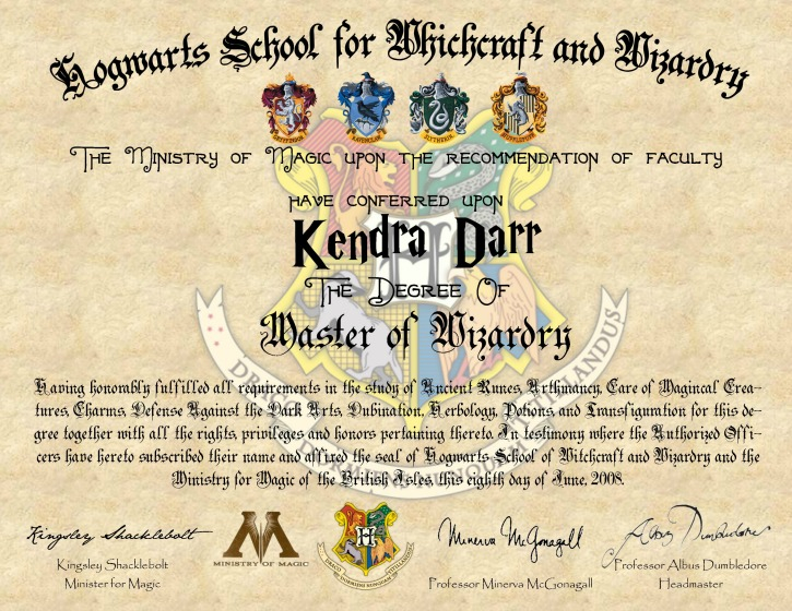 DIY Harry Potter Hogwarts Diploma - Simply Darrling With Harry Potter Certificate Template Throughout Harry Potter Certificate Template