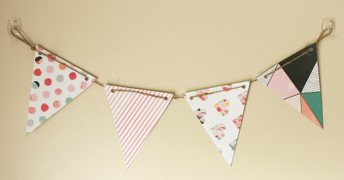 DIY Paper Pennant Banner (w/ Free Template) - Mommy Suite With Homemade Banner Template Inside Homemade Banner Template