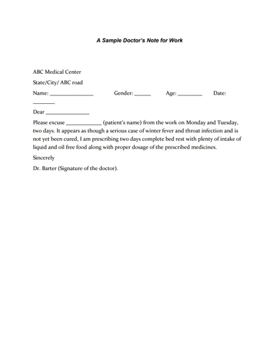 Doctors Note for Work Template: Download, Create,Fill and Print  With Regard To Free Fake Doctors Note Template Download Intended For Free Fake Doctors Note Template Download