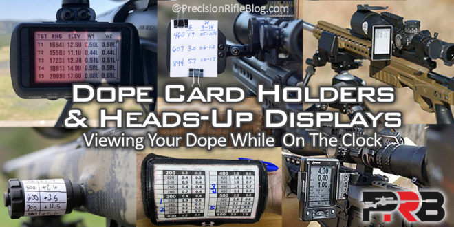 Dope Card Holders & Heads-Up Displays: Viewing Your Dope While On  Pertaining To Dope Card Template Regarding Dope Card Template