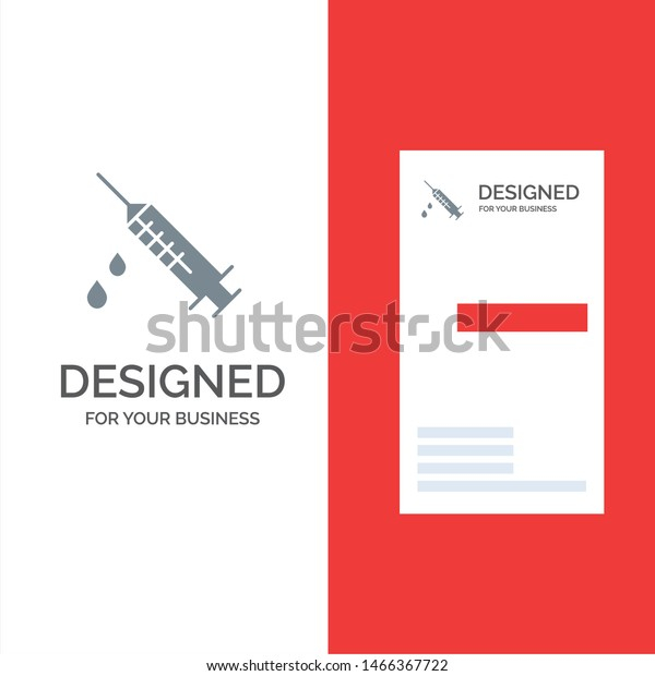 Dope Injection Medical Drug Grey Logo Stock Vector (Royalty Free  With Regard To Dope Card Template With Regard To Dope Card Template