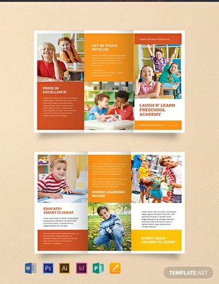 Download 11+ Educational Brochure Templates – Word (DOC)  PSD  For Brochure Templates For School Project