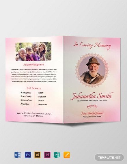 Download 11+ Funeral Brochure Templates - PDF  Word (DOC)  PSD  With Memorial Brochure Template With Regard To Memorial Brochure Template