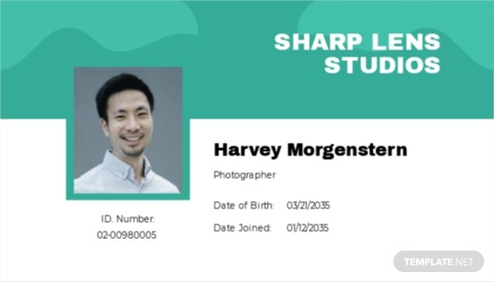 Download 11+ Photographer ID Card Templates [Customize & Download  For Photographer Id Card Template With Photographer Id Card Template
