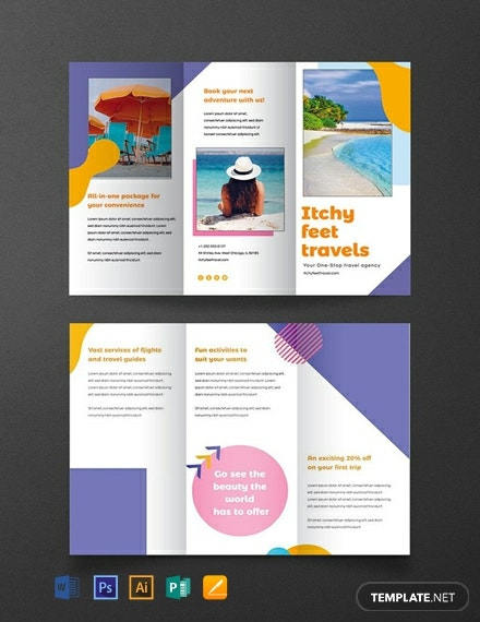 Download 11+ Travel Brochure Templates - Word (DOC)  PSD  In Island Brochure Template With Regard To Island Brochure Template