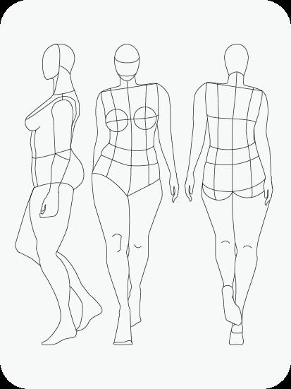 Download Fashion Figure Templates – Prêt-à-Template In Blank Model Sketch Template In Blank Model Sketch Template