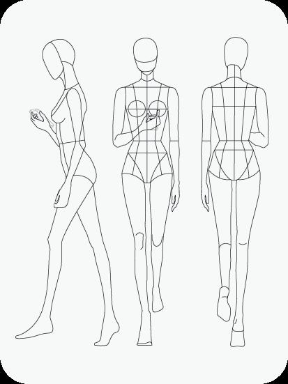 Download Fashion Figure Templates – Prêt-à-Template Regarding Blank Model Sketch Template Throughout Blank Model Sketch Template