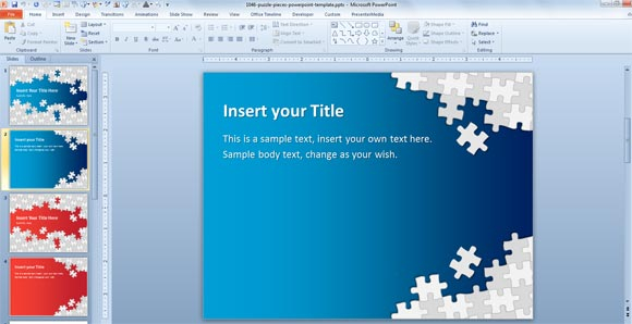 Download Free Puzzle Pieces PowerPoint Template for Presentations Within Powerpoint Sample Templates Free Download For Powerpoint Sample Templates Free Download