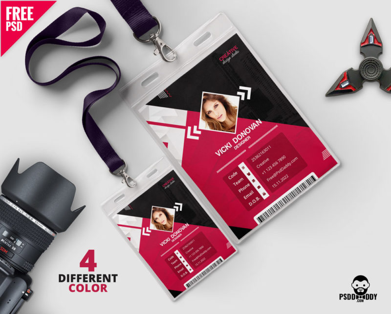 Download] Photo Identity Card Template PSD  PsdDaddy Throughout Photographer Id Card Template