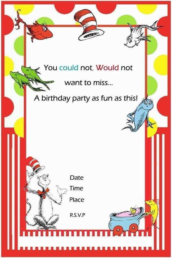 Dr Seuss Birthday Invitation Template - Cards Design Templates Throughout Dr Seuss Birthday Card Template With Regard To Dr Seuss Birthday Card Template