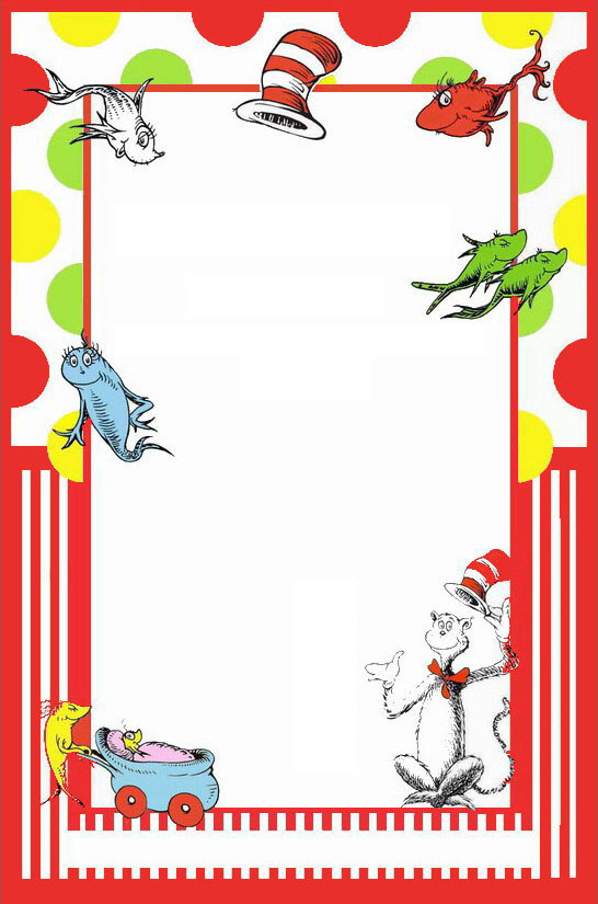 Dr Seuss Free Printable Invitation Templates  Invitations Online In Dr Seuss Birthday Card Template Pertaining To Dr Seuss Birthday Card Template