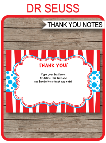 Dr Seuss Party Thank You Cards template Within Dr Seuss Birthday Card Template Throughout Dr Seuss Birthday Card Template