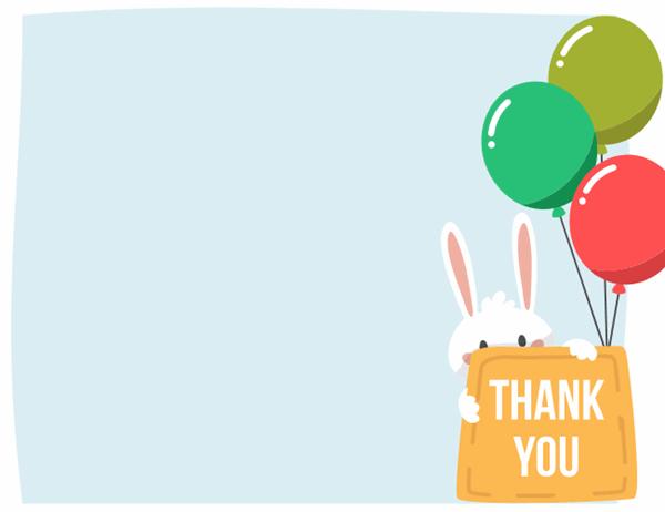 Easter thank you card (quarter-fold) Inside Powerpoint Thank You Card Template Within Powerpoint Thank You Card Template