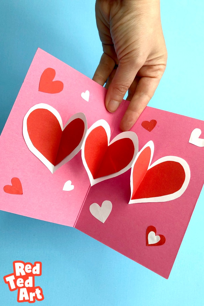 Easy Heart Pop Up Cards - Red Ted Art - Make crafting with kids Throughout Heart Pop Up Card Template Free Inside Heart Pop Up Card Template Free