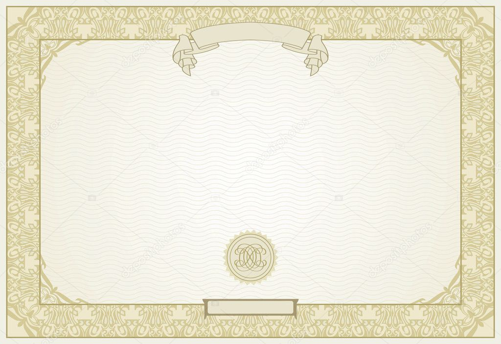 Editable certificate template with ornamental border, in modern 11 Intended For High Resolution Certificate Template For High Resolution Certificate Template