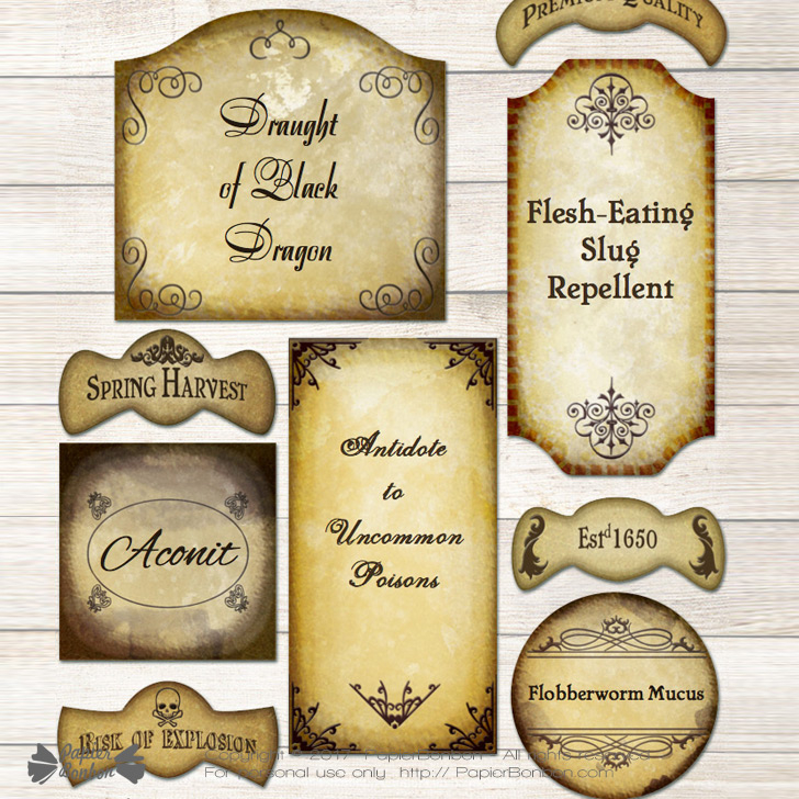 Editable Potion Labels - Harry Potter style For Harry Potter Potion Labels Templates Pertaining To Harry Potter Potion Labels Templates