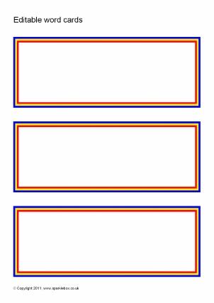 Editable Primary Classroom Flash Cards - SparkleBox Regarding Free Printable Flash Cards Template For Free Printable Flash Cards Template